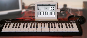*ION 49 Keyboard with iPad sounds great wth Garage Band